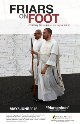 Friars on Foot Poster (11 X 17)