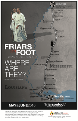 Friars on Foot Poster